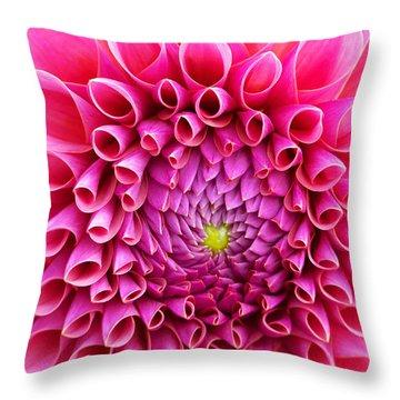 Pink Flower Close Up Throw Pillow