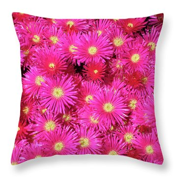 Pink Flower Explosion Throw Pillow