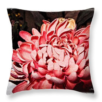 Throw Pillow featuring the photograph Pink Flower by Joan  Minchak