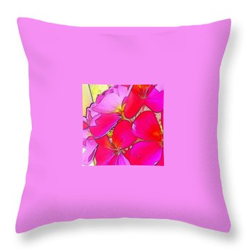 Pink Flower Throw Pillow