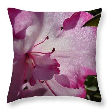 Pink Flowers 1 Throw Pillow