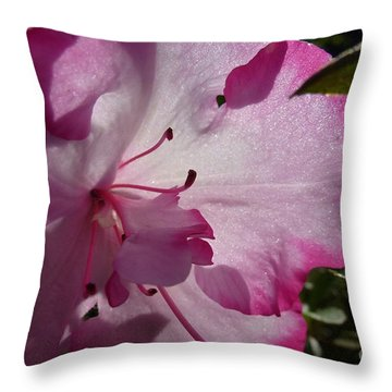 Pink Flowers 1 Throw Pillow