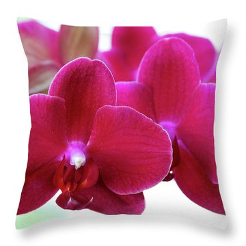 Red Orchid Throw Pillow