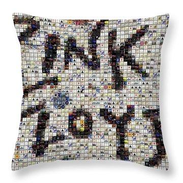 Pink Floyd Albums Mosaic Throw Pillow by Paul Van Scott