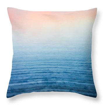Pink Fog At Sunrise Throw Pillow by Shelby  Young