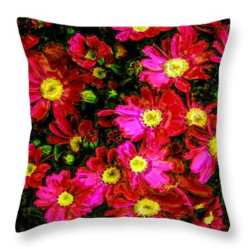Pink Friends Throw Pillow by Phill Petrovic