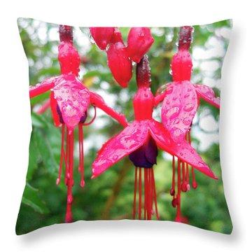 Pink Fuchsia Throw Pillow by Robert Shard