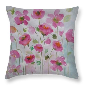 Pink Garden 1 Throw Pillow