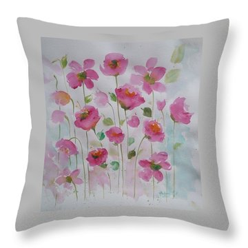 Pink Garden 1 Throw Pillow