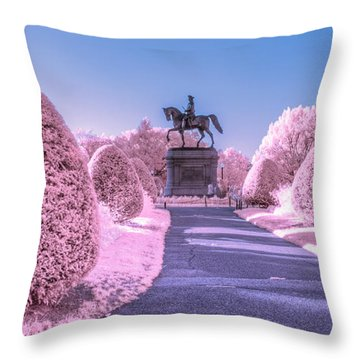 Pink Garden Throw Pillow