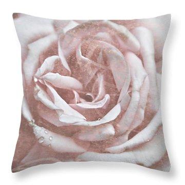 Pink Garden Rose Throw Pillow
