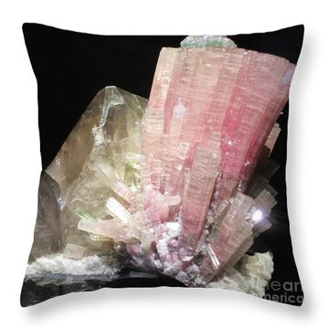 Pink Gemstone Throw Pillow