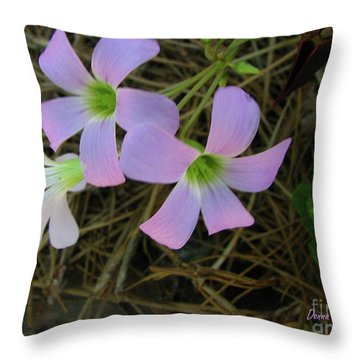 Throw Pillow featuring the photograph Pink Glow by Donna Brown