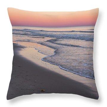 Pink Glow Seaside New Jersey 2017 Throw Pillow