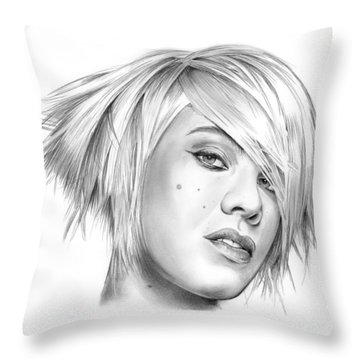 Pink Throw Pillow by Greg Joens