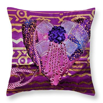 Pink Have A Heart  Throw Pillow