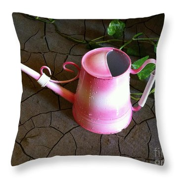 Pink Hope Throw Pillow by Carlos Avila