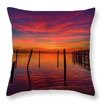 Pink Horizon Throw Pillow