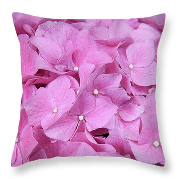 Pink Hydrangea Throw Pillow by Elvira Ladocki