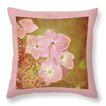 Throw Pillow featuring the photograph Pink Hydrangeas by Lyn Randle