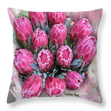Pink Ice Throw Pillow by Nadine May