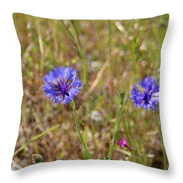 Throw Pillow featuring the photograph Pink In Between by Marie Neder
