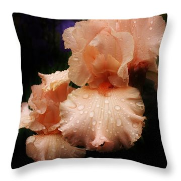 Pink Iris 1 Throw Pillow by Bruce Bley