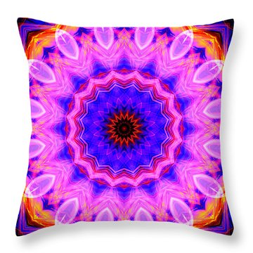 Pink Kaleidoscope Throw Pillow