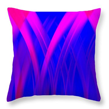 Throw Pillow featuring the digital art Pink Lacing by Carolyn Marshall