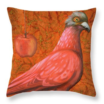 Throw Pillow featuring the painting Pink Lady by Leah Saulnier The Painting Maniac