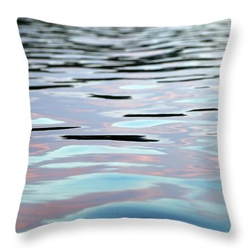 Pink, Lavender, And Blue Water Abstract Throw Pillow