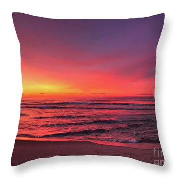 Pink Lbi Sunrise Throw Pillow