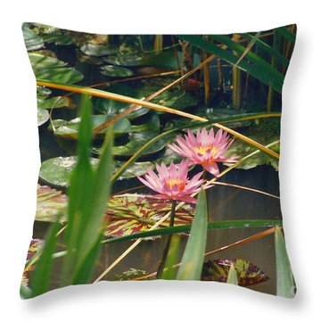 Pink Lillies 6-25-11 Throw Pillow by Fred Jinkins