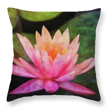 Pink Lotus 4134 Idp_2 Throw Pillow
