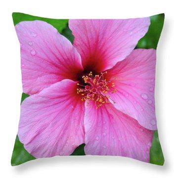 Pink Lugonia Throw Pillow