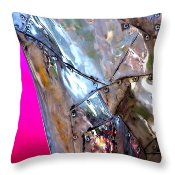 Pink Lustre  Throw Pillow by Prakash Ghai