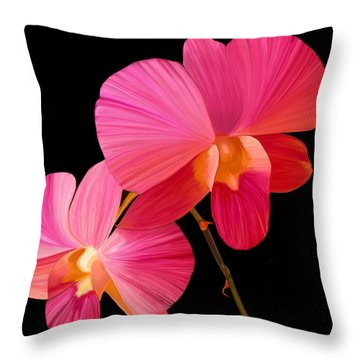 Pink Lux Throw Pillow