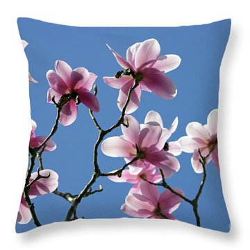 Pink Magnolias  Throw Pillow