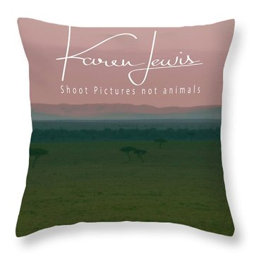 Throw Pillow featuring the photograph Pink Mara Dawn by Karen Lewis