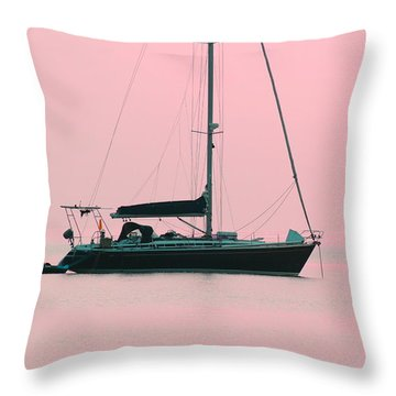 Throw Pillow featuring the photograph Pink Mediterranean by Richard Patmore