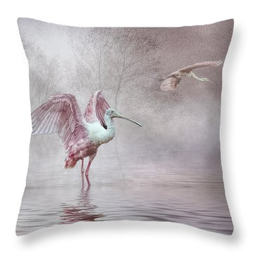 Pink Mist Throw Pillow by Brian Tarr