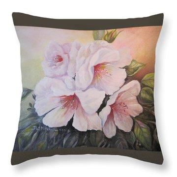 Pink Mist Throw Pillow