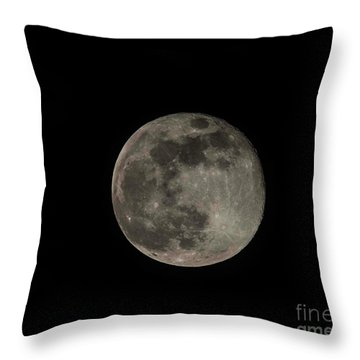 Throw Pillow featuring the photograph Pink Moon by David Bearden