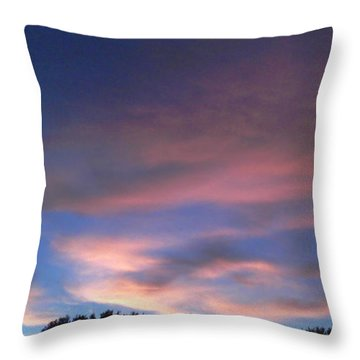 Pink Morning Clouds Throw Pillow