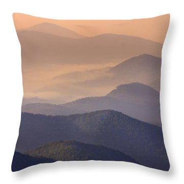 Throw Pillow featuring the photograph Pink Mountain Layers by Ken Barrett