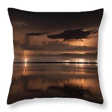 Amber Nights Throw Pillow