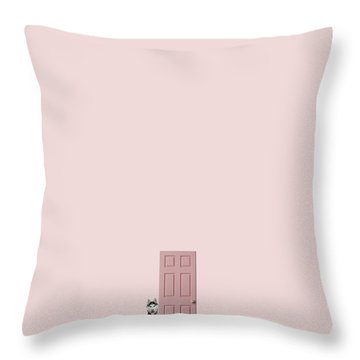 Pink On The Pink Throw Pillow by Caterina Theoharidou