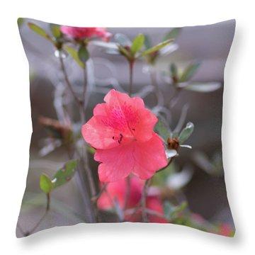 Pink Orange Flower Throw Pillow