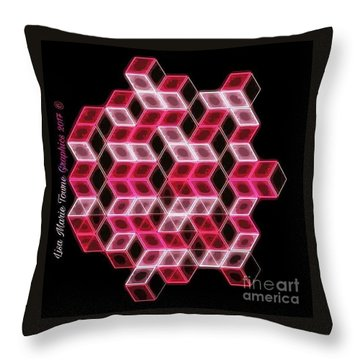 Pink Ortho Throw Pillow