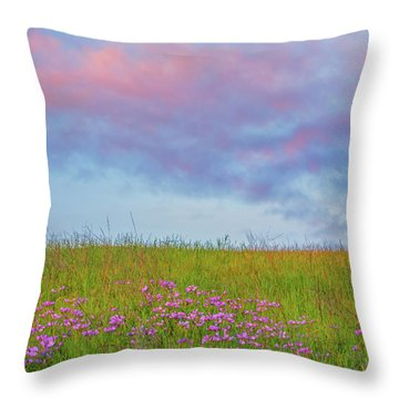 Pink  Over Pink  Throw Pillow by Marc Crumpler